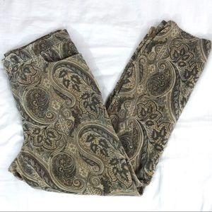 Velvet Paisley Pants